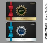 gift voucher templates. set of... | Shutterstock .eps vector #1176760078