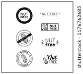 nut free icons on white... | Shutterstock .eps vector #1176762685