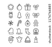 vector christmas icon set.... | Shutterstock .eps vector #1176766885