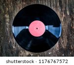 old vinyl record wooden... | Shutterstock . vector #1176767572