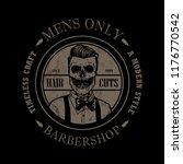 hand drawn barbershop logo | Shutterstock .eps vector #1176770542