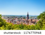 freiburg cityscape with munster ... | Shutterstock . vector #1176770968