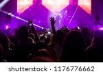 crowd at concert   cheering... | Shutterstock . vector #1176776662