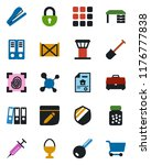 color and black flat icon set   ... | Shutterstock .eps vector #1176777838