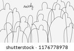 minimalistic sketch on theme of ... | Shutterstock .eps vector #1176778978