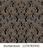 vector halloween repeated... | Shutterstock .eps vector #1176781942