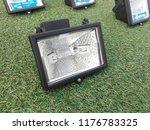 halogen lamp on grass | Shutterstock . vector #1176783325