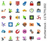 colored vector icon set  ... | Shutterstock .eps vector #1176791302