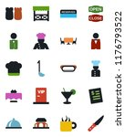 color and black flat icon set   ... | Shutterstock .eps vector #1176793522