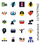 color and black flat icon set   ... | Shutterstock .eps vector #1176797962