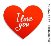 """red heart note with text """"i... 
