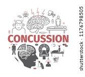 concussion. symptoms  treatment.... | Shutterstock .eps vector #1176798505