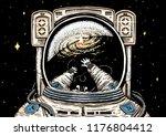 astronaut spaceman soaring....   Shutterstock .eps vector #1176804412