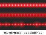 set of seamless led glowing... | Shutterstock .eps vector #1176805432
