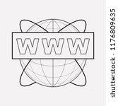 www address icon line element.... | Shutterstock .eps vector #1176809635