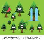 tree icon set cute trees vector ... | Shutterstock .eps vector #1176813442