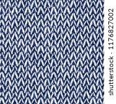 folk chevron indigo dyed effect ...   Shutterstock . vector #1176827002