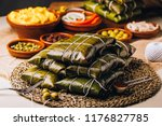 group of ingredients for the... | Shutterstock . vector #1176827785