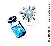 vector medical vial... | Shutterstock .eps vector #1176837808