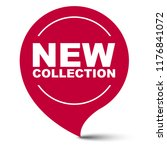 red vector banner new collection | Shutterstock .eps vector #1176841072