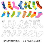 isolated  set of multi colored ...   Shutterstock .eps vector #1176842185