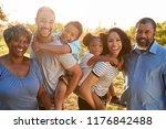 portrait of multi generation... | Shutterstock . vector #1176842488