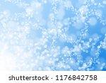 blue bokeh beautiful blurred... | Shutterstock . vector #1176842758