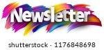 newsletter sign. colorful brush ... | Shutterstock .eps vector #1176848698