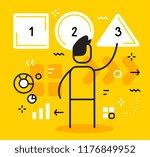 vector business illustration of ... | Shutterstock .eps vector #1176849952