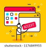 vector business illustration of ... | Shutterstock .eps vector #1176849955