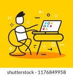 vector business illustration of ... | Shutterstock .eps vector #1176849958