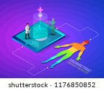 isometric smart health and... | Shutterstock .eps vector #1176850852