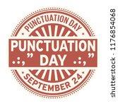 punctuation day  september 24 ... | Shutterstock .eps vector #1176854068
