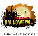 halloween party invitation with ... | Shutterstock .eps vector #1176855565