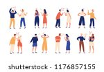 collection of pairs of people... | Shutterstock .eps vector #1176857155