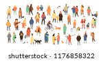 crowd of tiny people dressed in ... | Shutterstock .eps vector #1176858322