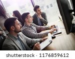 portrait of group of business... | Shutterstock . vector #1176859612