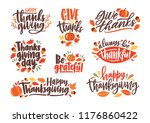 collection of thanksgiving day... | Shutterstock .eps vector #1176860422