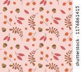 vector seamless autumn pattern... | Shutterstock .eps vector #1176861415