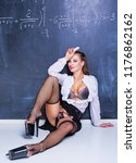 attractive striptease dancer... | Shutterstock . vector #1176862162