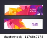 set of modern vector banners... | Shutterstock .eps vector #1176867178