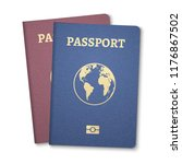 passport document id.... | Shutterstock .eps vector #1176867502