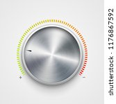 volume button metal texture... | Shutterstock .eps vector #1176867592