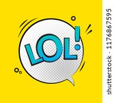 lol text speech label icon. pop ... | Shutterstock .eps vector #1176867595