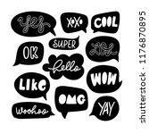 vector set of speech bubbles in ...   Shutterstock .eps vector #1176870895