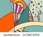 abstract colorful pattern with... | Shutterstock .eps vector #1176872935