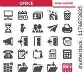 office icons. professional ... | Shutterstock .eps vector #1176873835