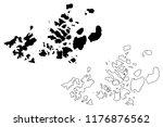 franz josef land  archipelago... | Shutterstock .eps vector #1176876562