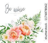 vector wedding invite  greeting ...   Shutterstock .eps vector #1176878062