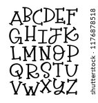 vector alphabet set. elegant... | Shutterstock .eps vector #1176878518